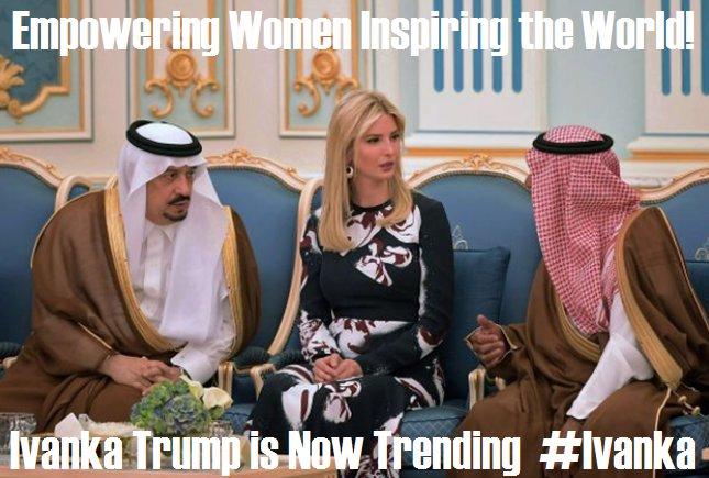 Ivanka in Saudi Arabia -- Jewish and unveiled