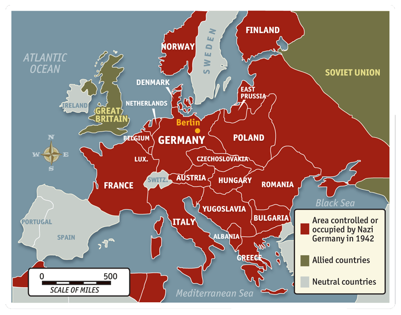 Nazi German conquests 1942