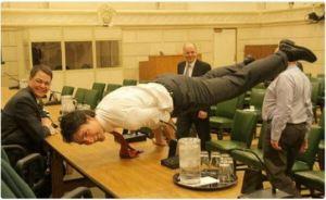 Justin Trudeau yoga