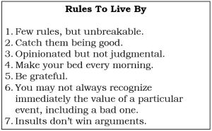 Simple Rules to live by