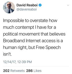 Net neutrality free speech