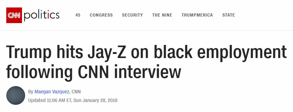 CNN headlines black unemplolyment
