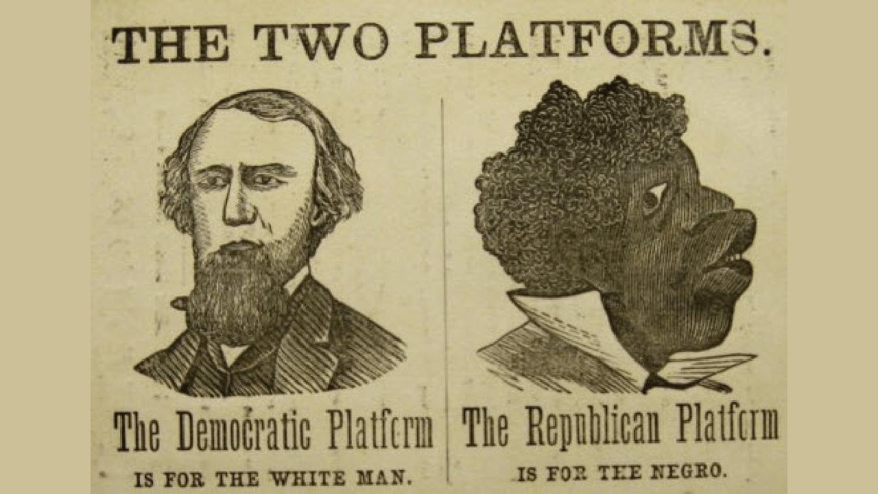 Democrat Racism 19th century political poster