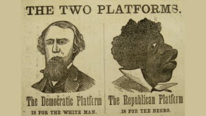 Democrat Racism 19th century political poster