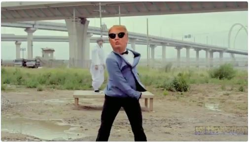 Donald Trump Gangnam style
