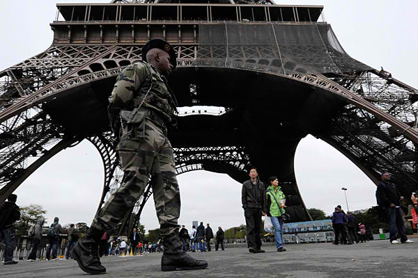 Paris Eiffel Tower Police Europe
