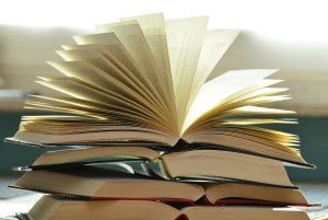 Stack of books bestseller lists