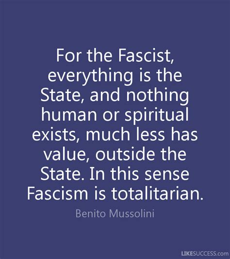 Mussolini on the state as all powerful