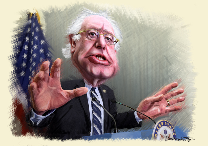 Bernie Sanders by DonkeyHotey