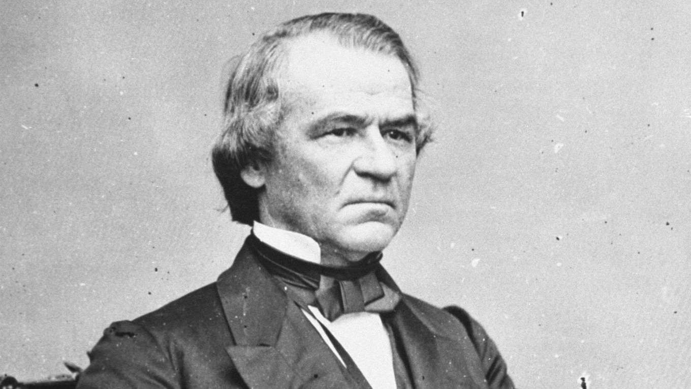 Democrat President Andrew Johnson Reconstruction