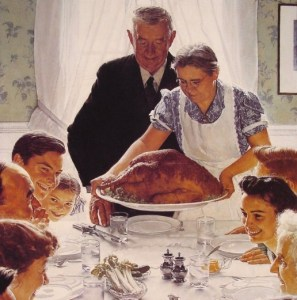 Norman Rockwell Freedom From Want Thanksgiving