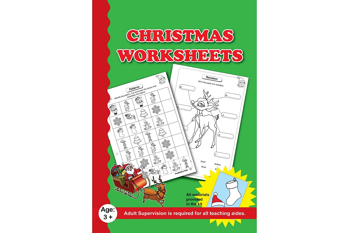 Christmas Worksheets With Craft Material Lockdown