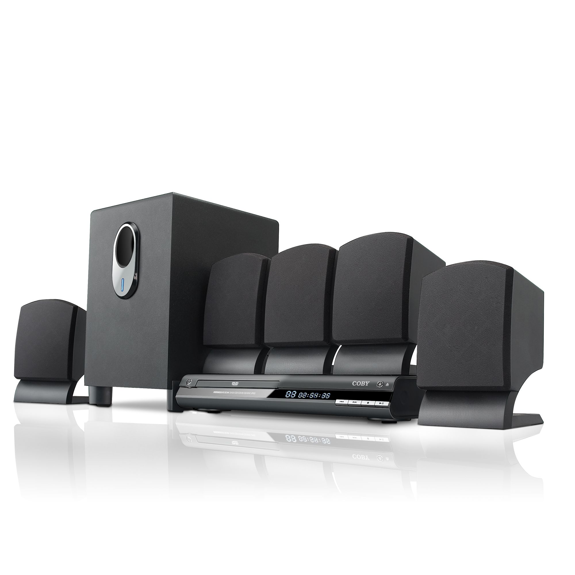 hight resolution of coby dvd765 5 1 channel dvd home theater system