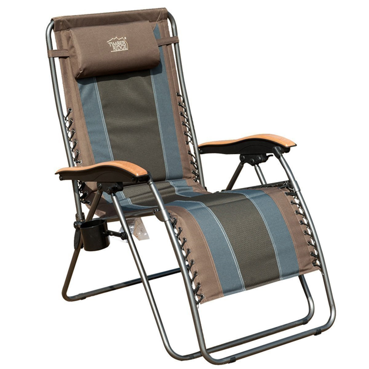 xl zero gravity chair with canopy and footrest office next review of timber ridge patio lounge oversize padded adjustable recliner