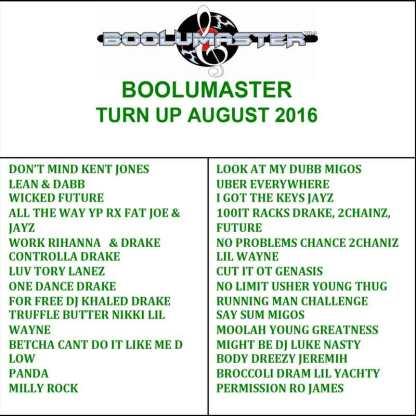 turn up august 2016 playlist