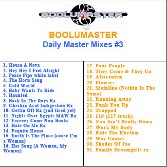 Boolu Daily Master Mixes 3 playlist