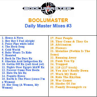 Boolu Daily Master Mixes 3 playlist