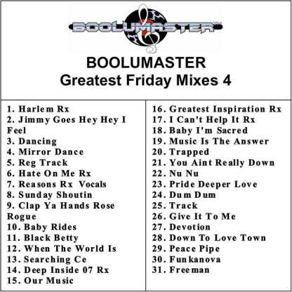 greatest friday mixes 4 cover