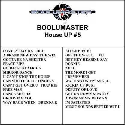 House Up 5 playlist