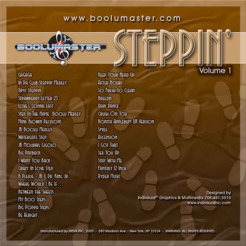 Steppin Volume 1 back cover