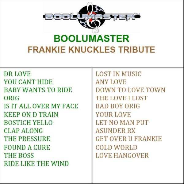 Frankie Knuckles Tribute playlist