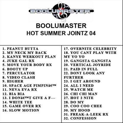 Hot Summer Jointz 04 playlist