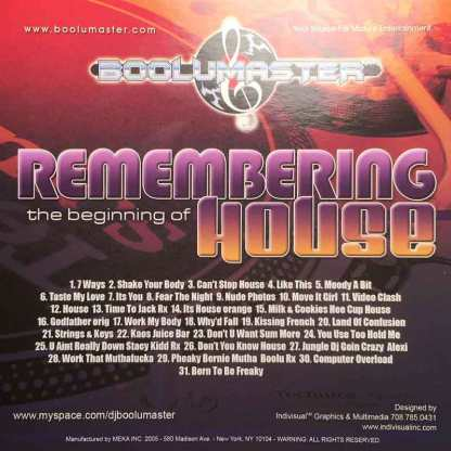 Remembering house cover