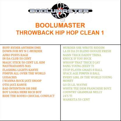 Throwback Hip Hop Clean Playlist