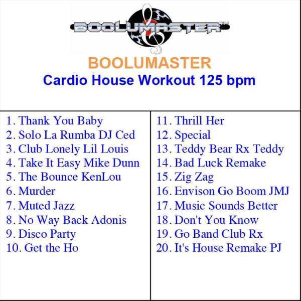 Cardio House Work playlist
