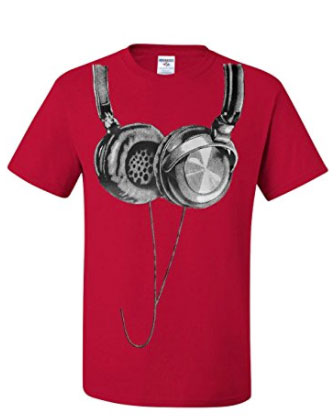 Red Headphone T-Shirt
