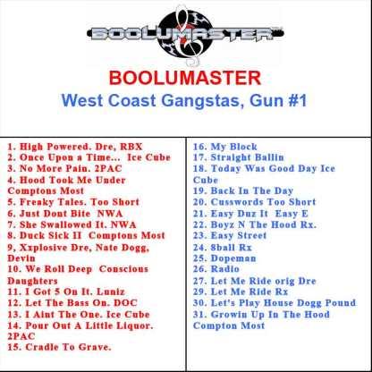 west coast gangster playlist