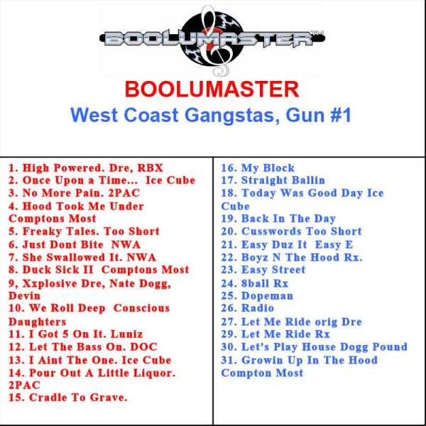 west coast gangster playlist
