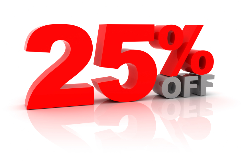 25% off image