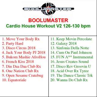 cardio house workout v2 playlist