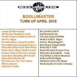 Turn up April 2018 playlist