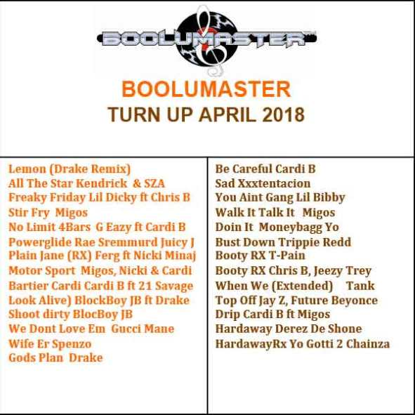 Turn up hip hop and rnb april 2018 mix boolumaster.