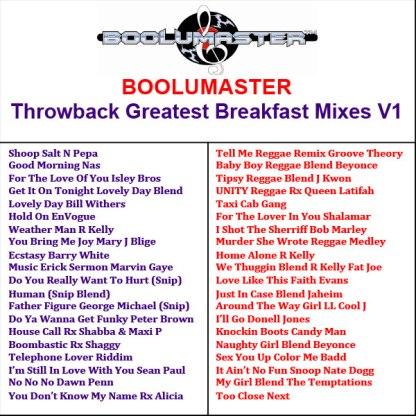 Throwback Playlist Greatest breakfast mixes v1