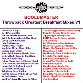 Throwback Playlist Greatest breakfast mixes v1