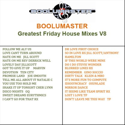 Greatest Friday House V8 playlist