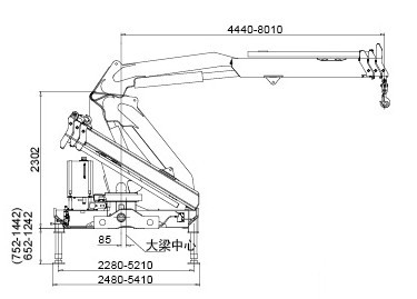Durable Hydraulic Knuckle Boom Truck Mounted Crane With