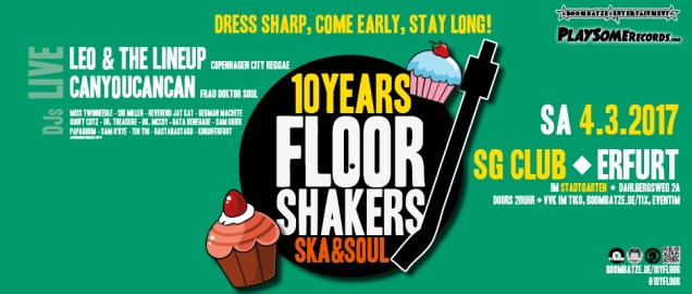 10 Years FLOORSHAKERS | 4.3.17