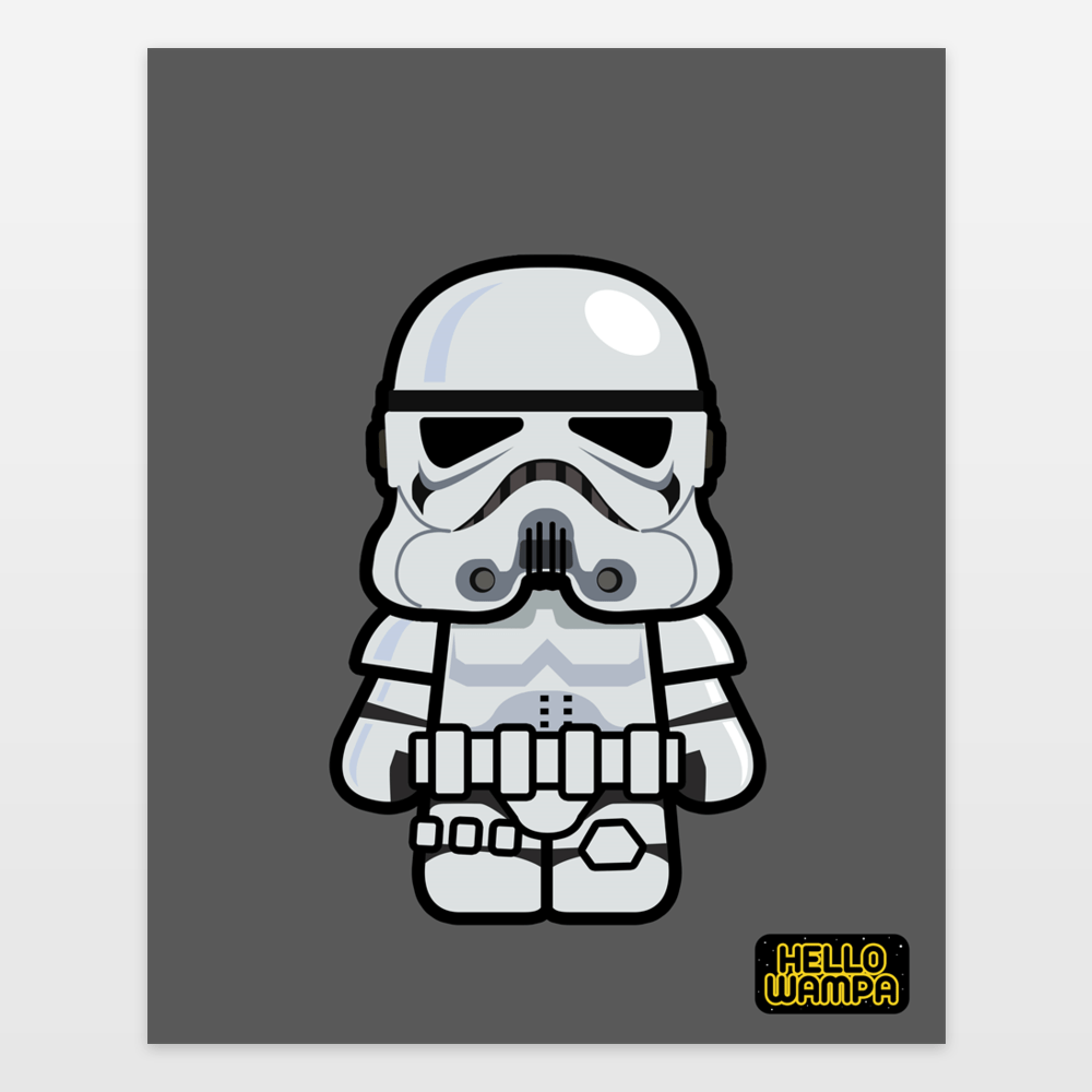 Hello Wampa  Stormtrooper Art Print by markpaulik on