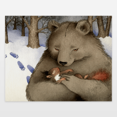 Fall Kitchen Curtains Nautical Hardware Squirrel And Bear Art Print By Barbarajelenkovich On ...
