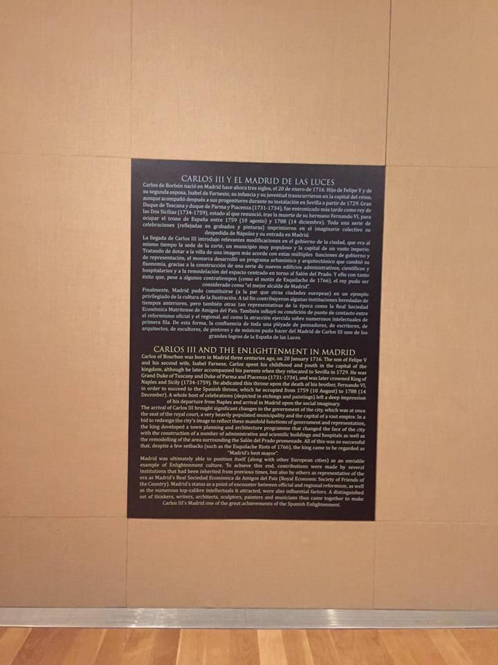 MUSEO DE HISTORIA exposicin CARLOS III  Impresion