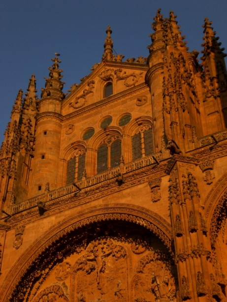 Sunset Glow on the Cathedral of Salamanca, Spain