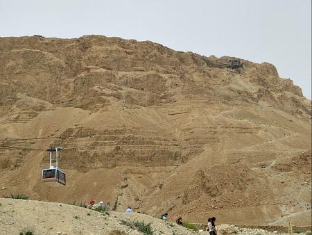 Cable car at Masada, Israel