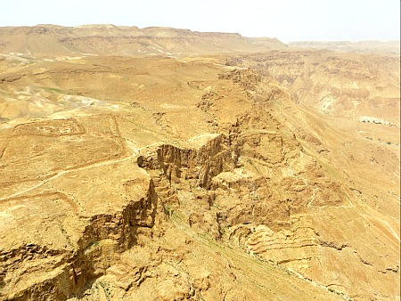 The view from Masada, Israel