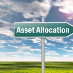 "Road sign saying ""asset allocation"" against a blue sky"
