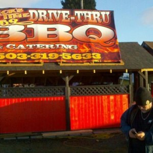 SLICKS BIG TIME BBQ DRIVE-THRU IN NEWBERG, OREGON