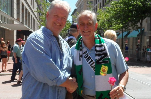 In Portland You Might Even Meet Current Mayor Charlie Hales at the Rose Festival Parade.